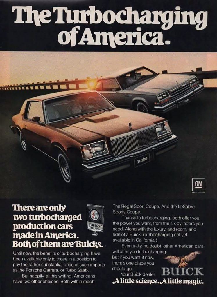 1987 Buick Turbos Ad