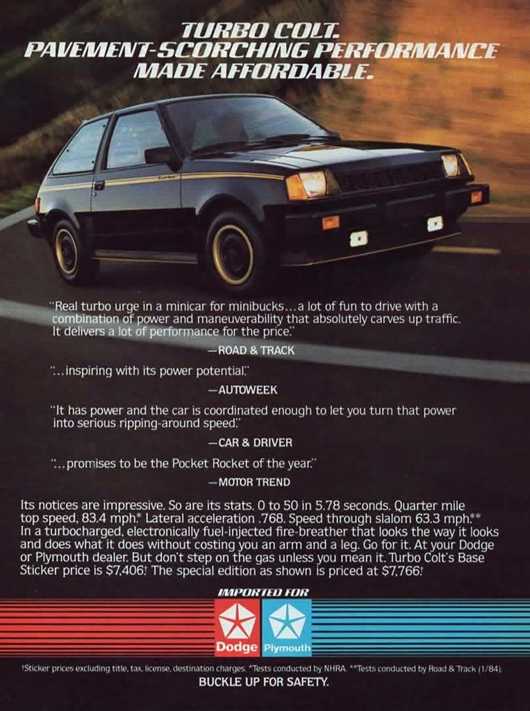 1984 Dodge Colt/Plymouth Colt