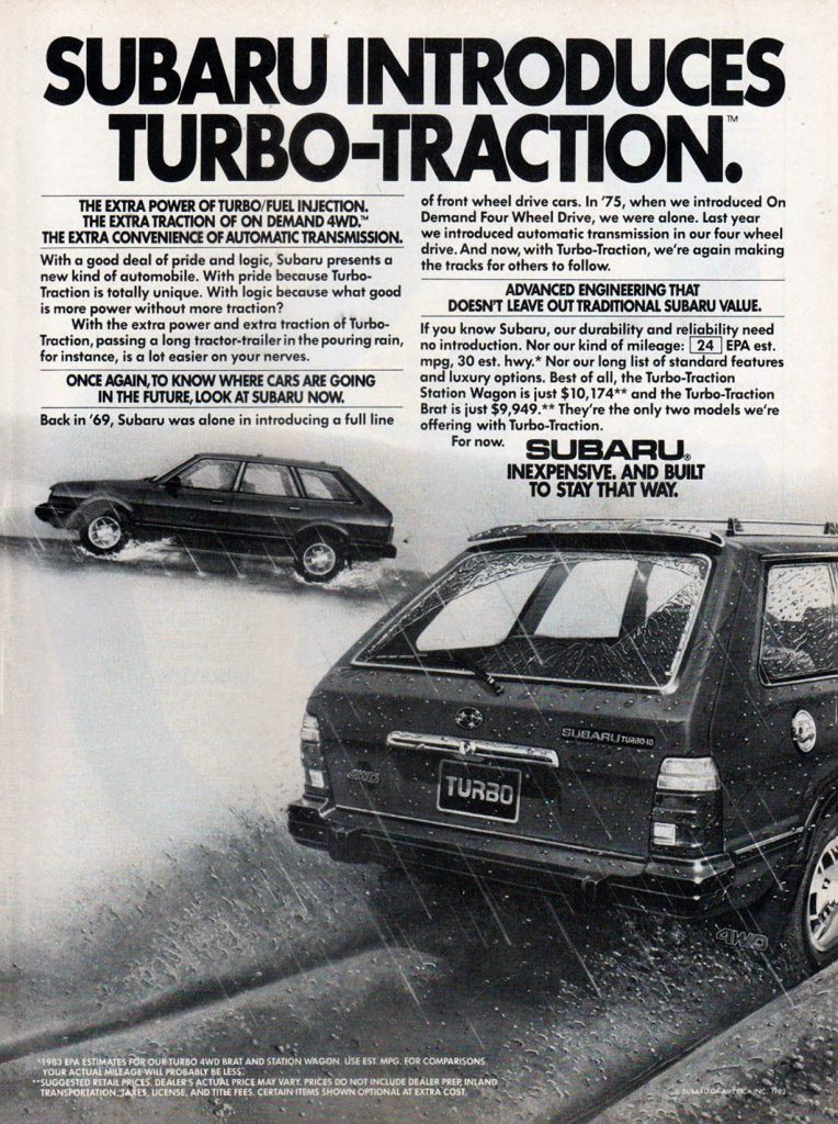 "1984 Subaru ""Turbo-Traction"", Classic Turbo Ads"