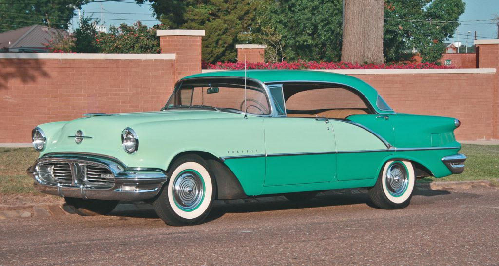 1956 Oldsmobile Super 88, Green, 2-Tone