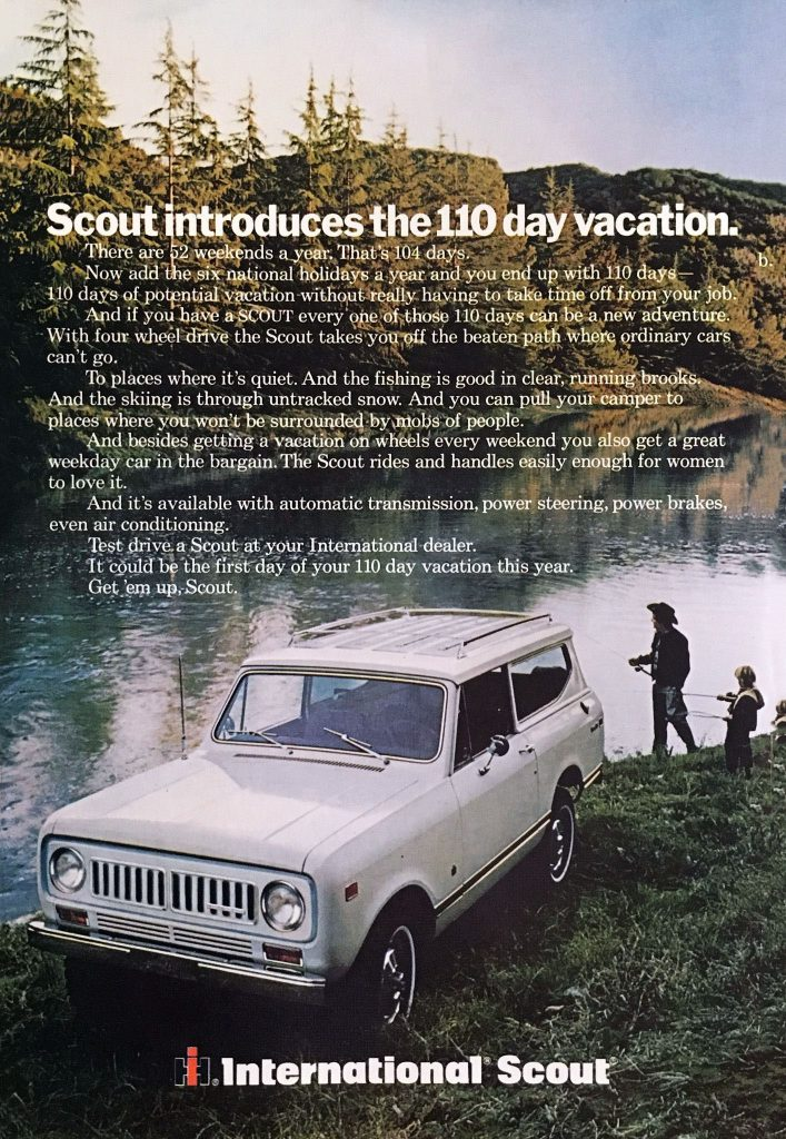 1973 International Scout Ad