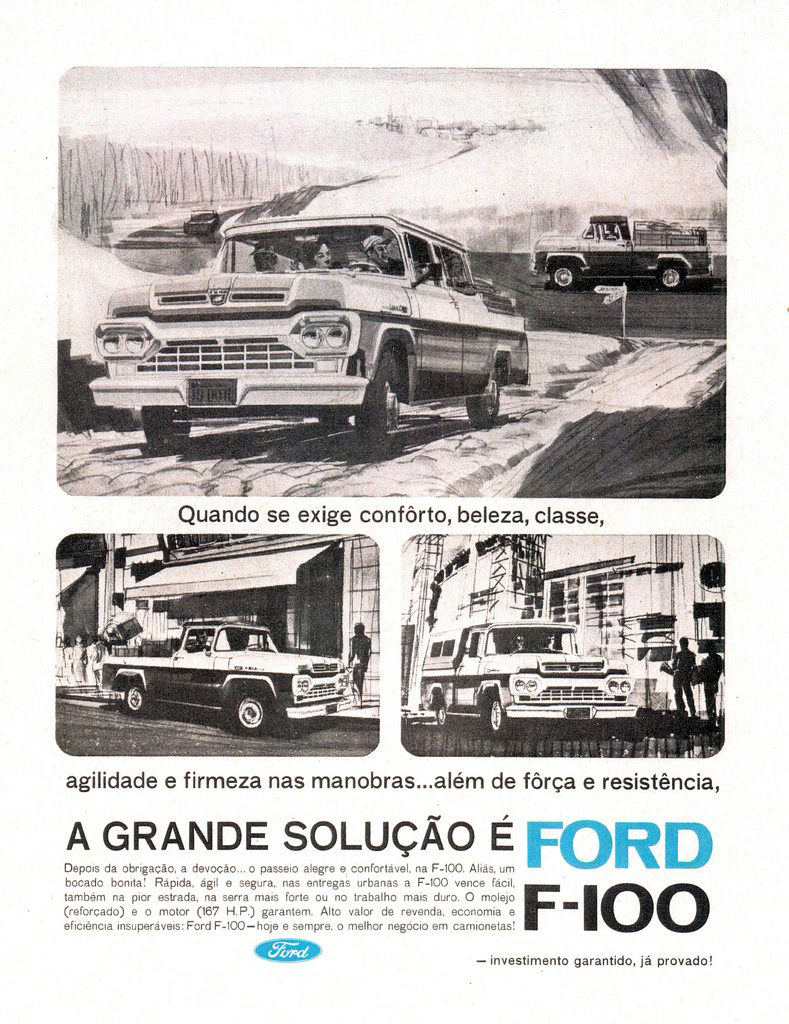 Ford Pickup Ad, F-100