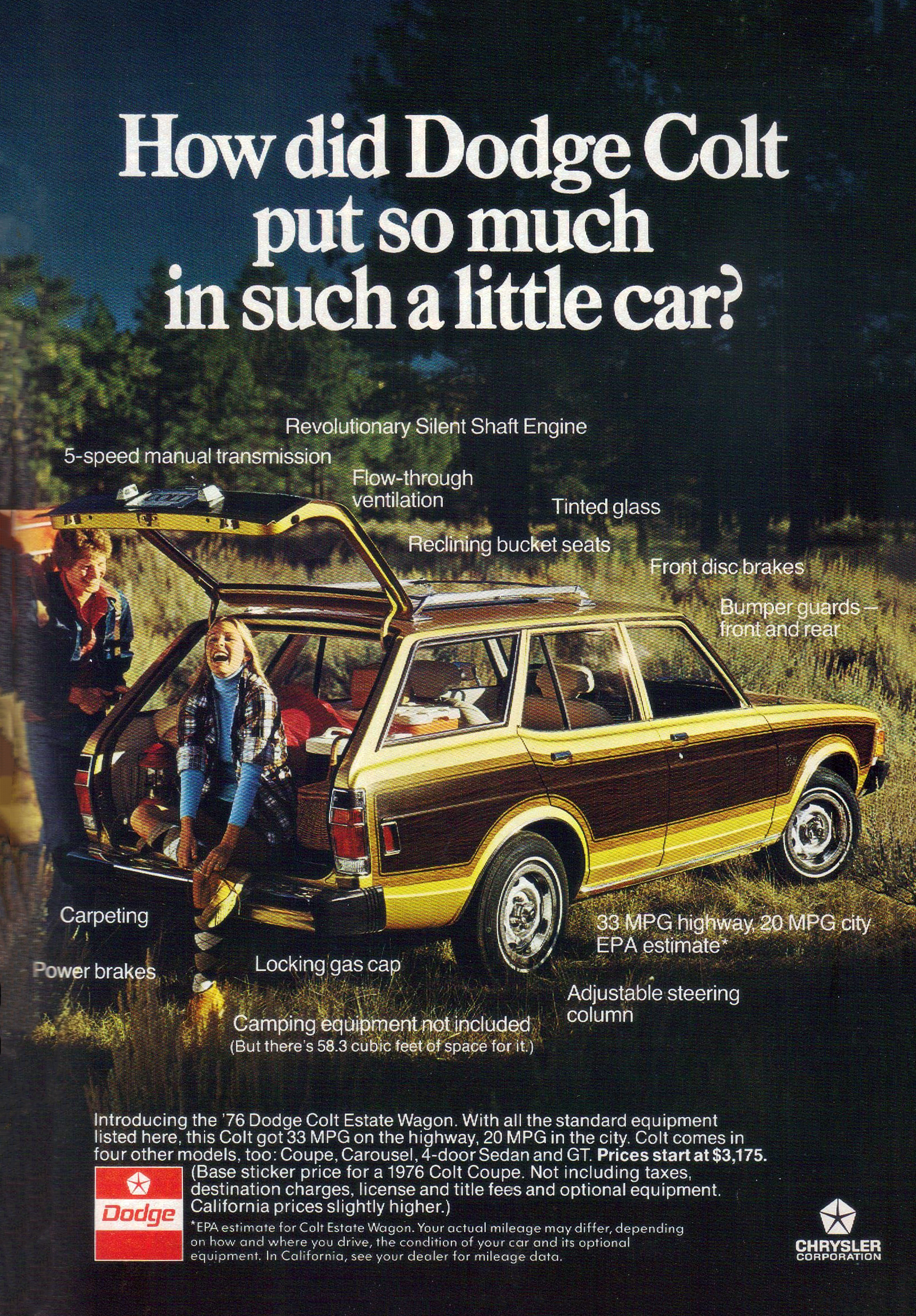 1976 Dodge Colt Estate Wagon Ad