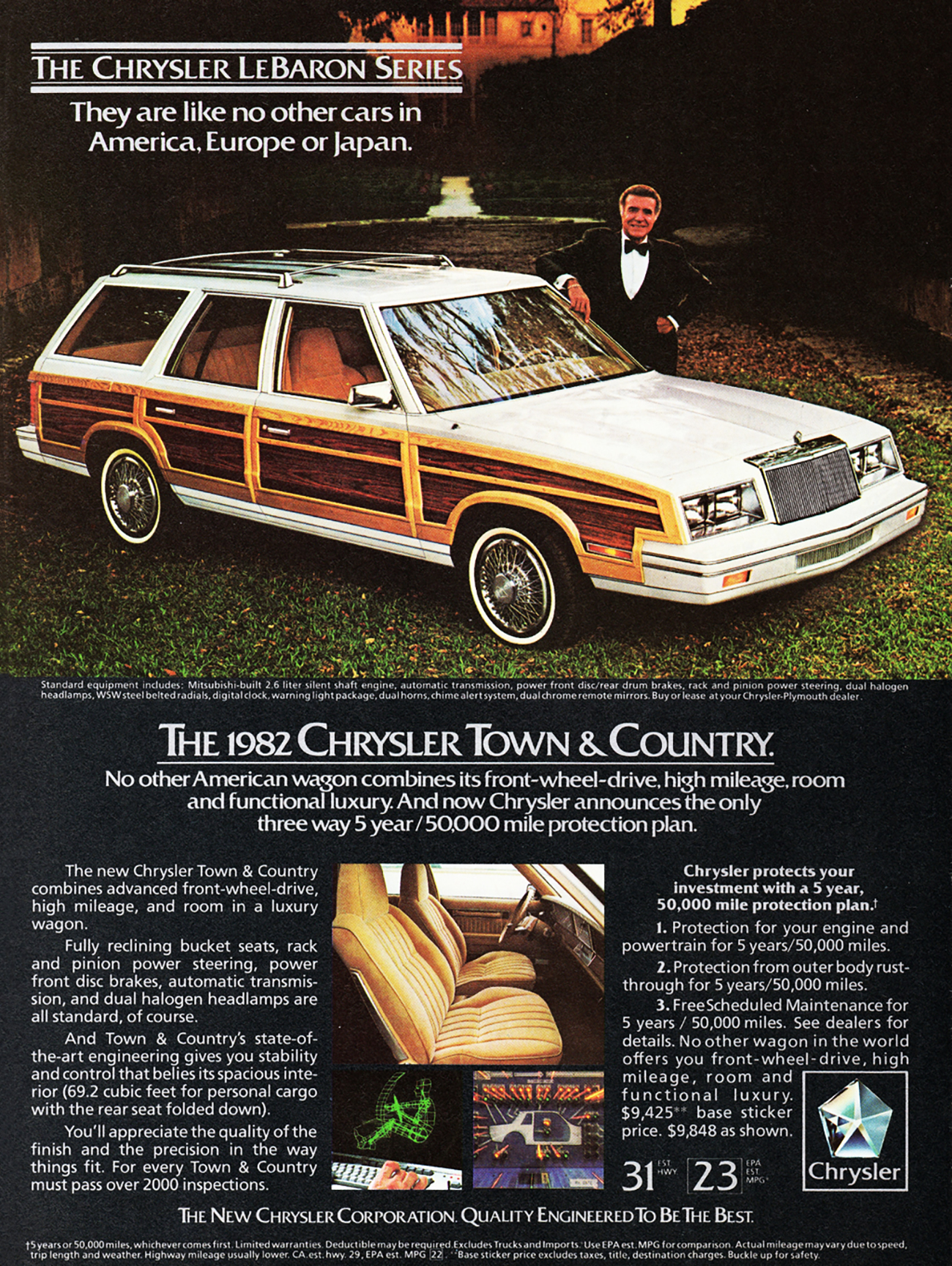 1982 Chrysler Town & Country Wagon Ad