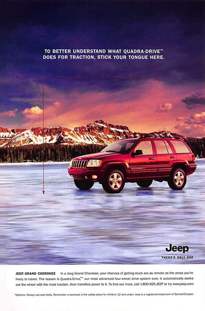 1999 Jeep Grand Cherokee Ad