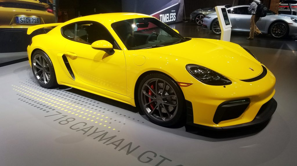 2020 Porsche 718 Cayman GT4 in Racing Yellow