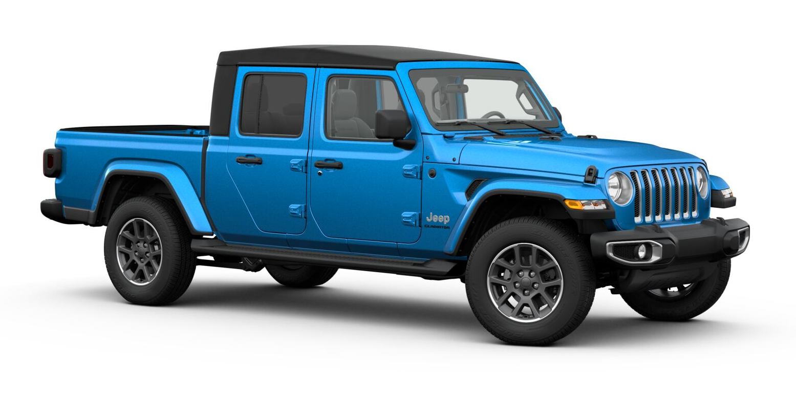 2020 Jeep Gladiator in Hydro Blue Pearl