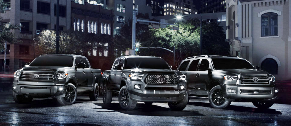 2021 Toyota Tacoma, Tundra, and Sequoia Nightshade Editions