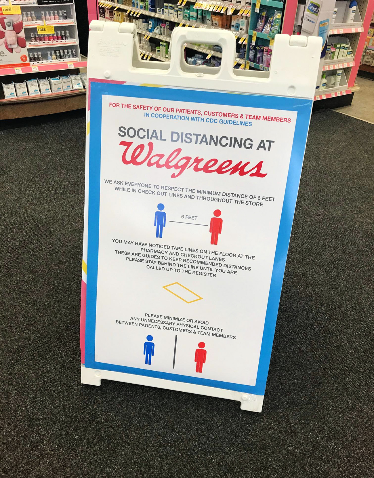 Walgreens Social Distancing Sign