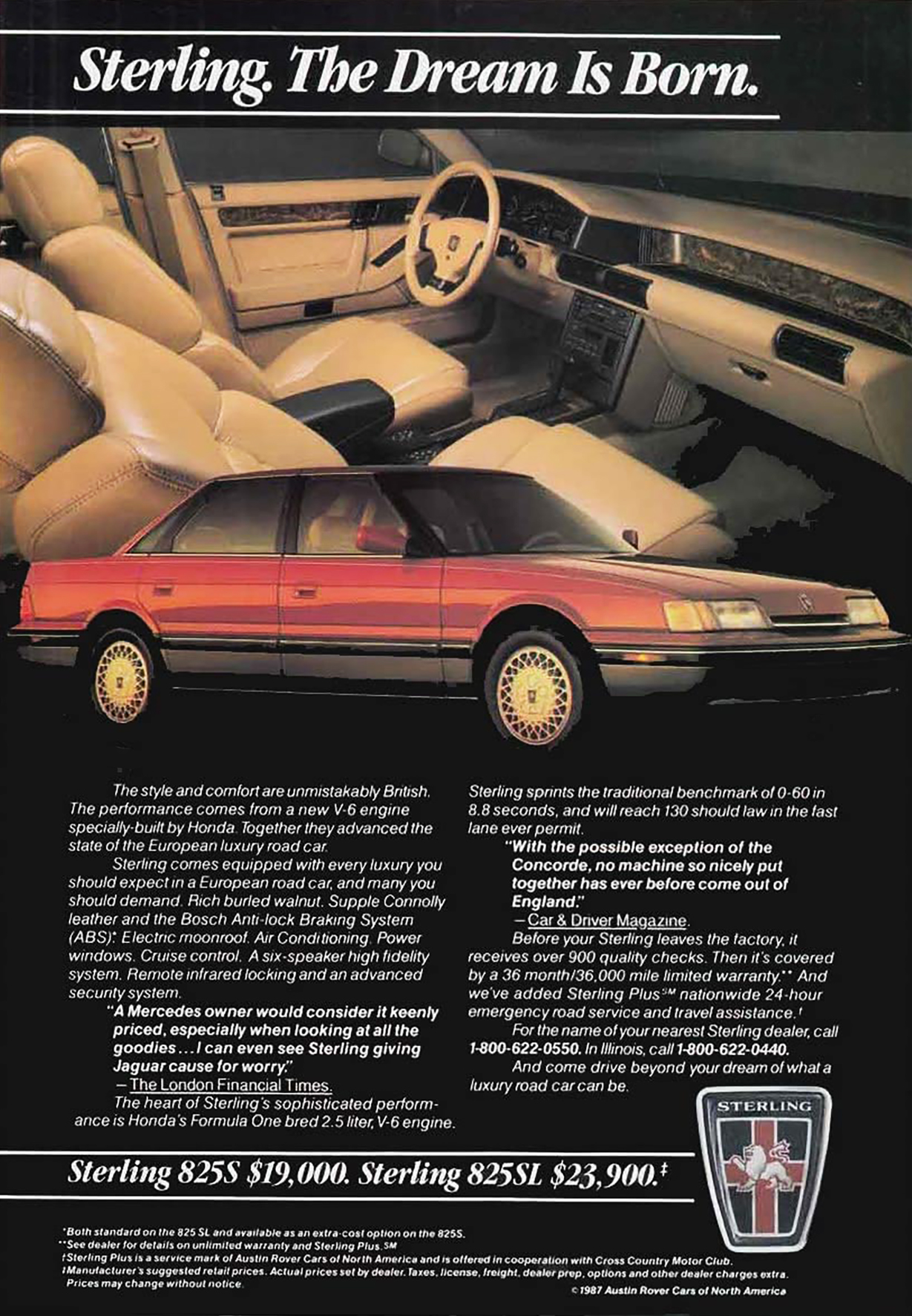 1987 Sterling 825 Ad