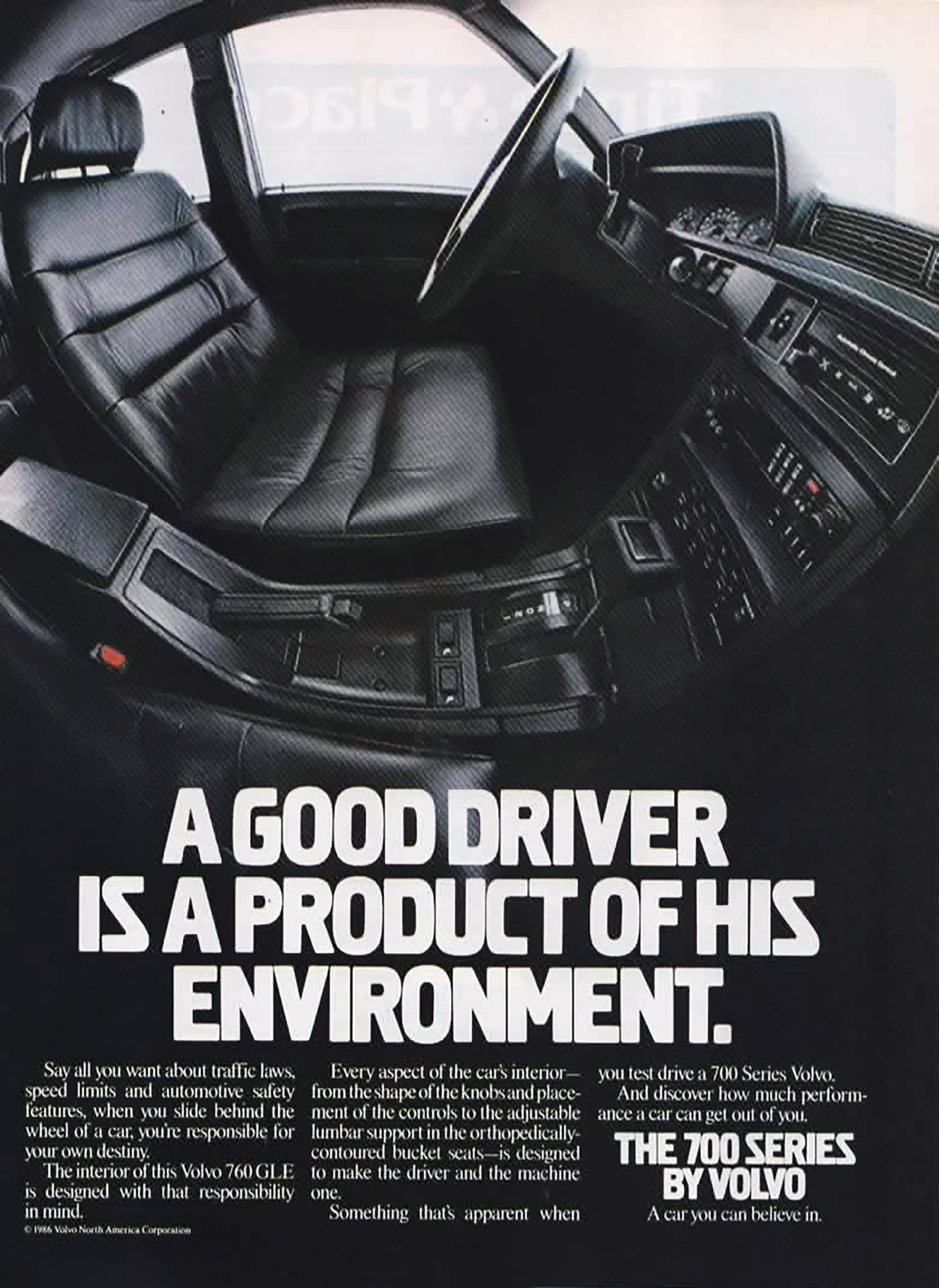 1987 Volvo 700 Series Ad, Luxury Car Ads from 1987