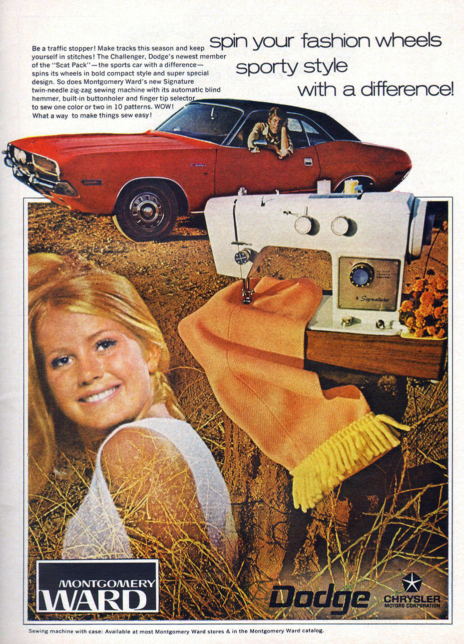 1970 Dodge Charger Ad, Montgomery Wards,