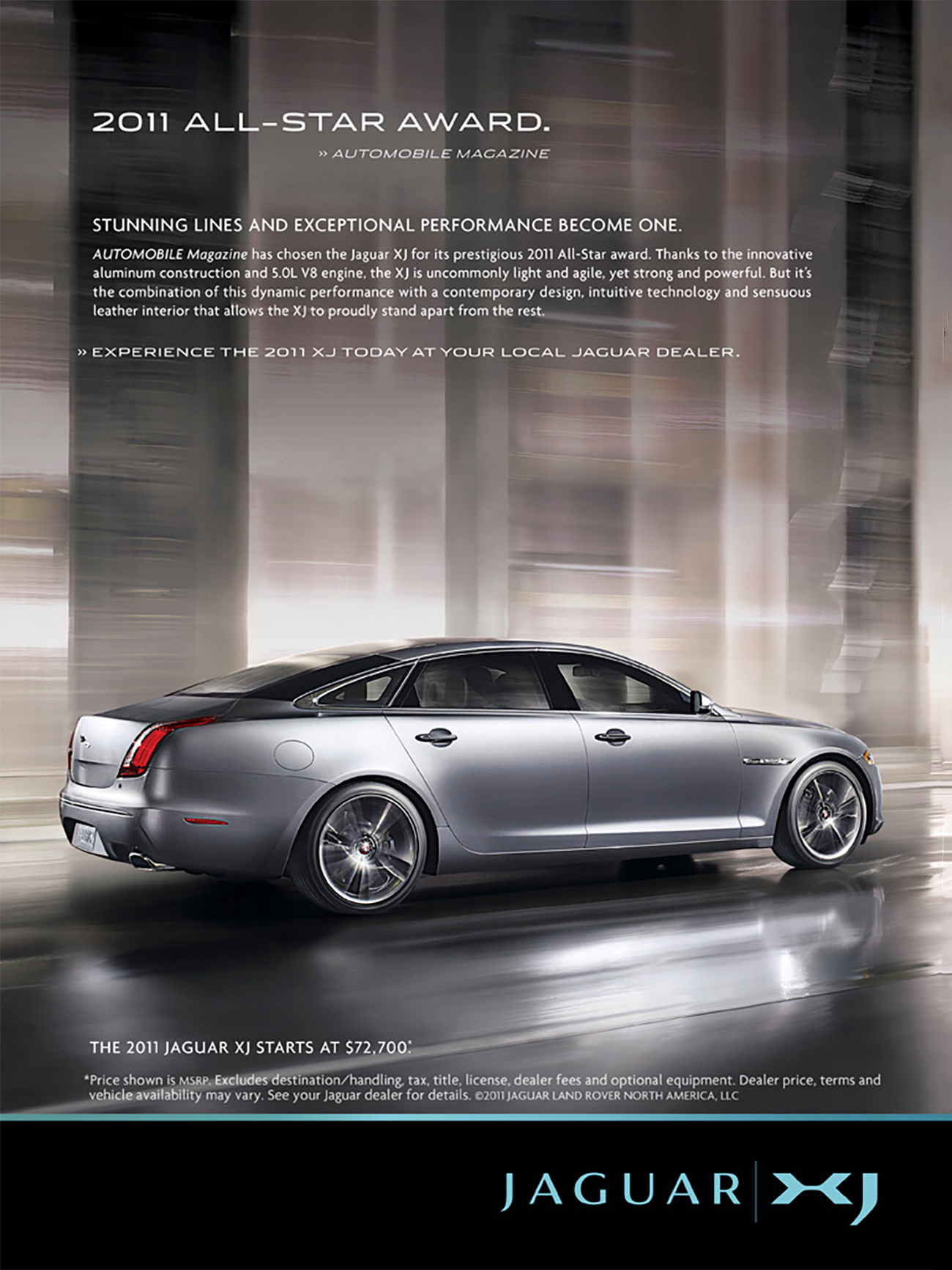 2011 Jaguar XJ Ad, Cars in Motion