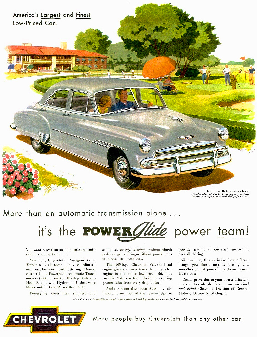 1950 Chevrolet Ad, Powerglide
