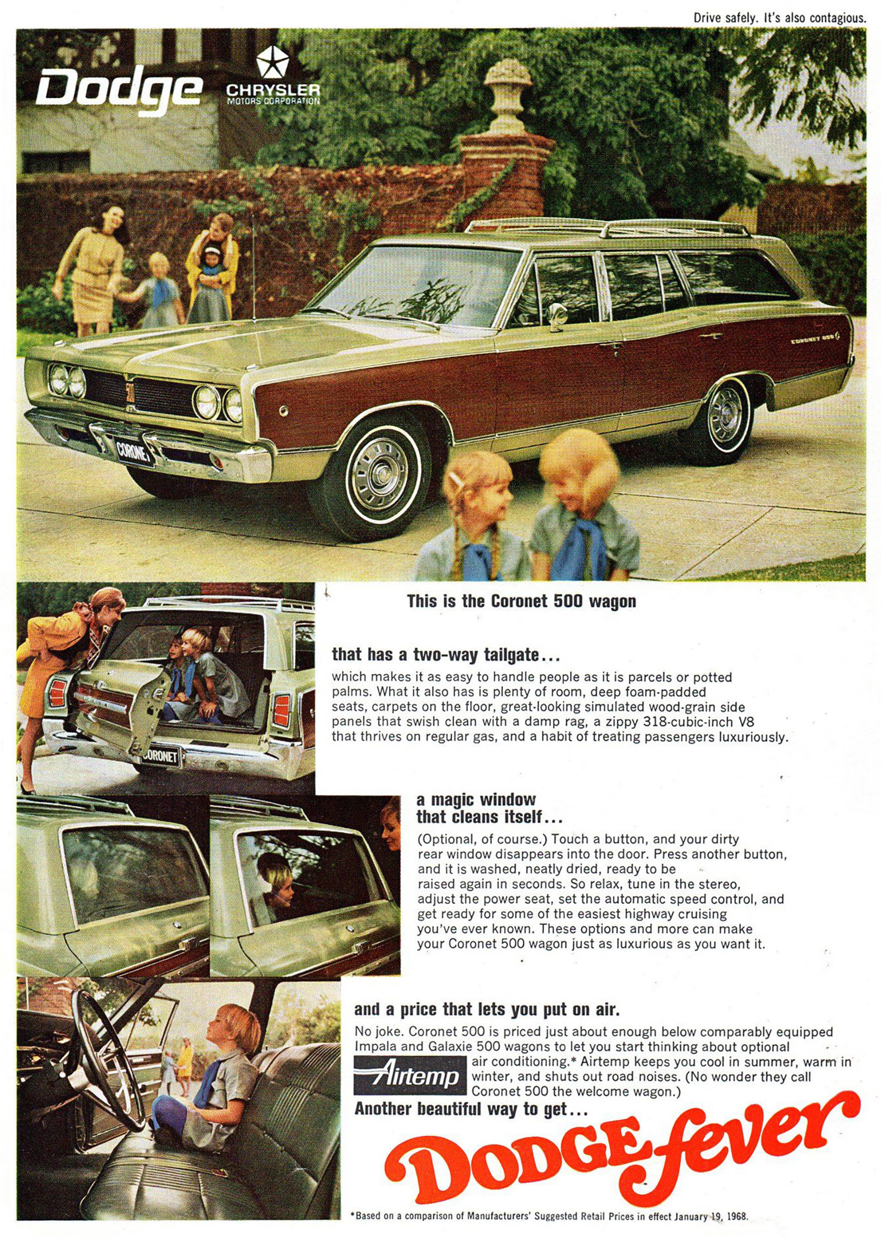1968 Dodge Coronet 500 Ad, Wagon, Station Wagon,