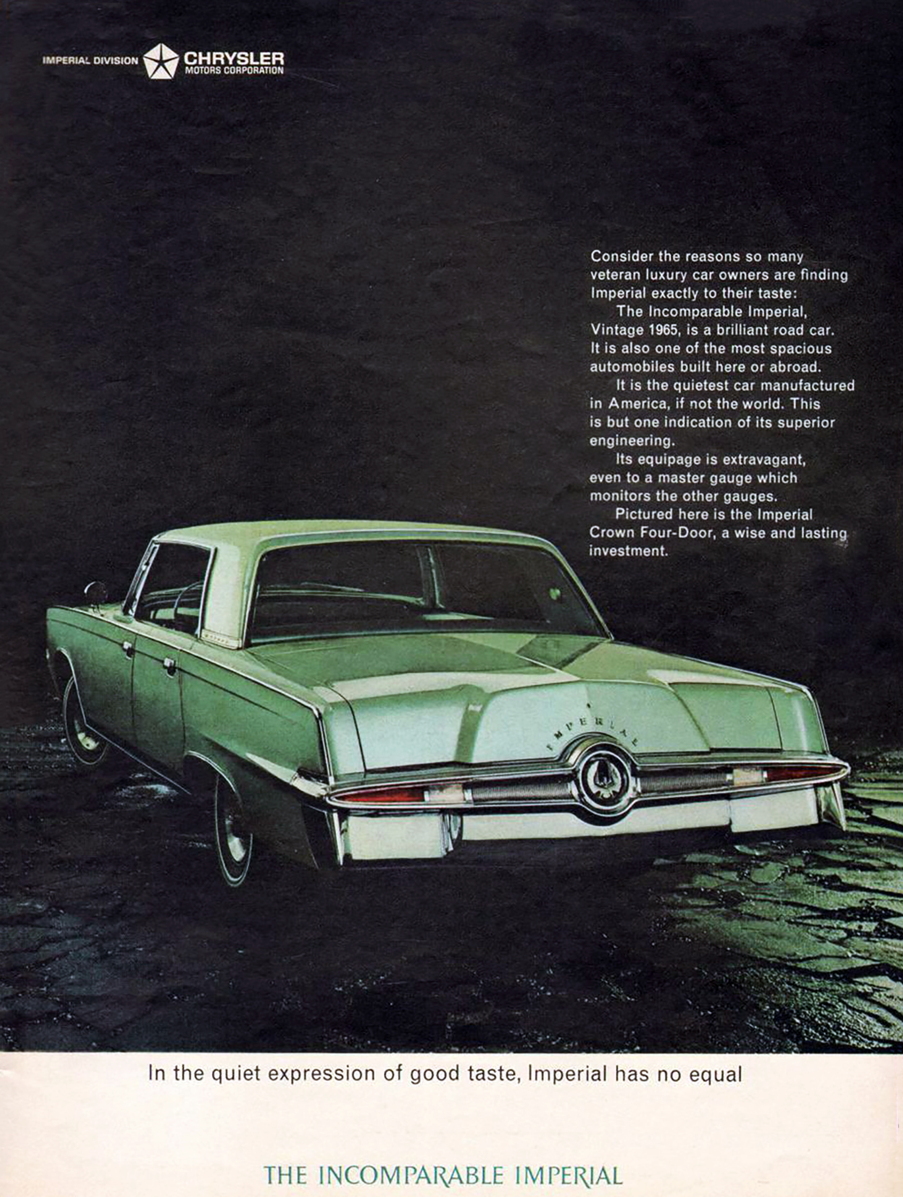 Chrysler Imperial, Vintage Ad, Green