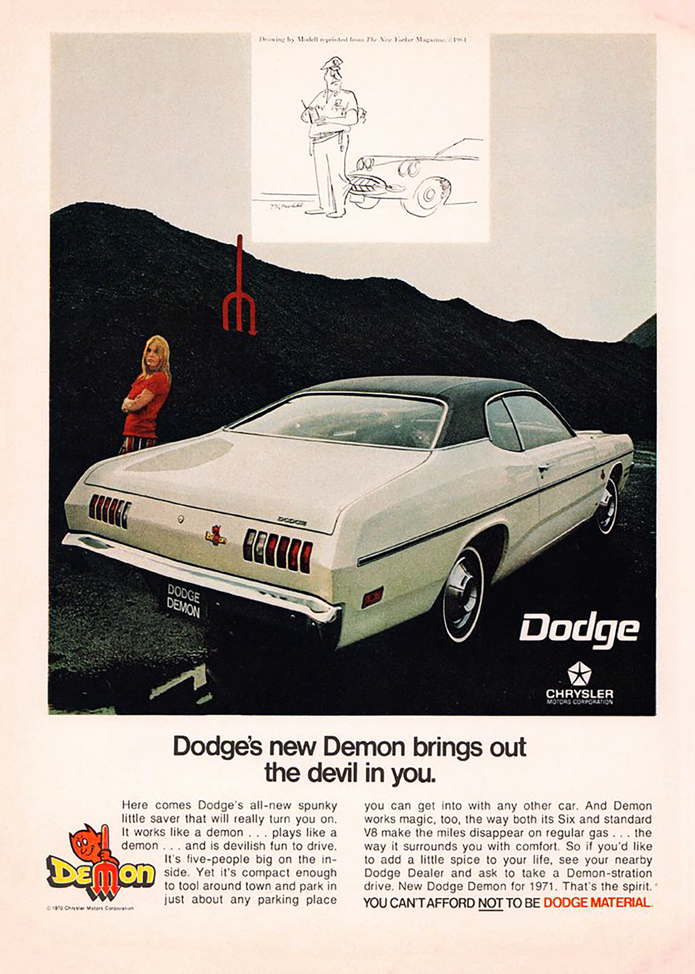1971 Dodge Dart Demon Ad