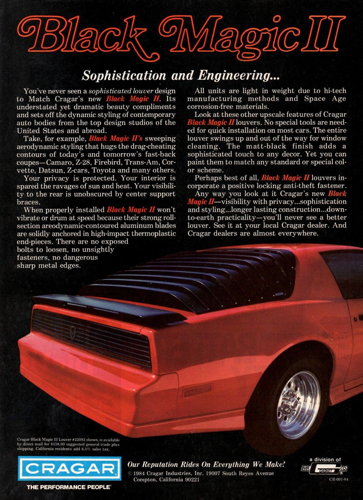 1984 Trans Am, 1984 Cragar Black Magic