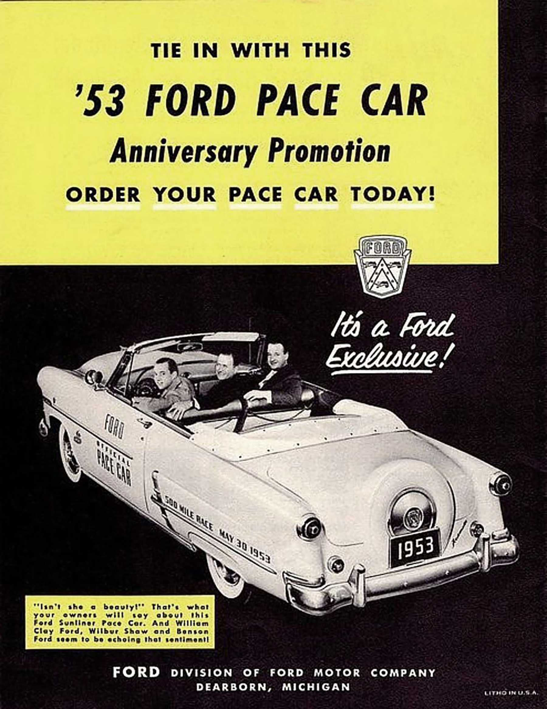 1953 Ford Pace Car