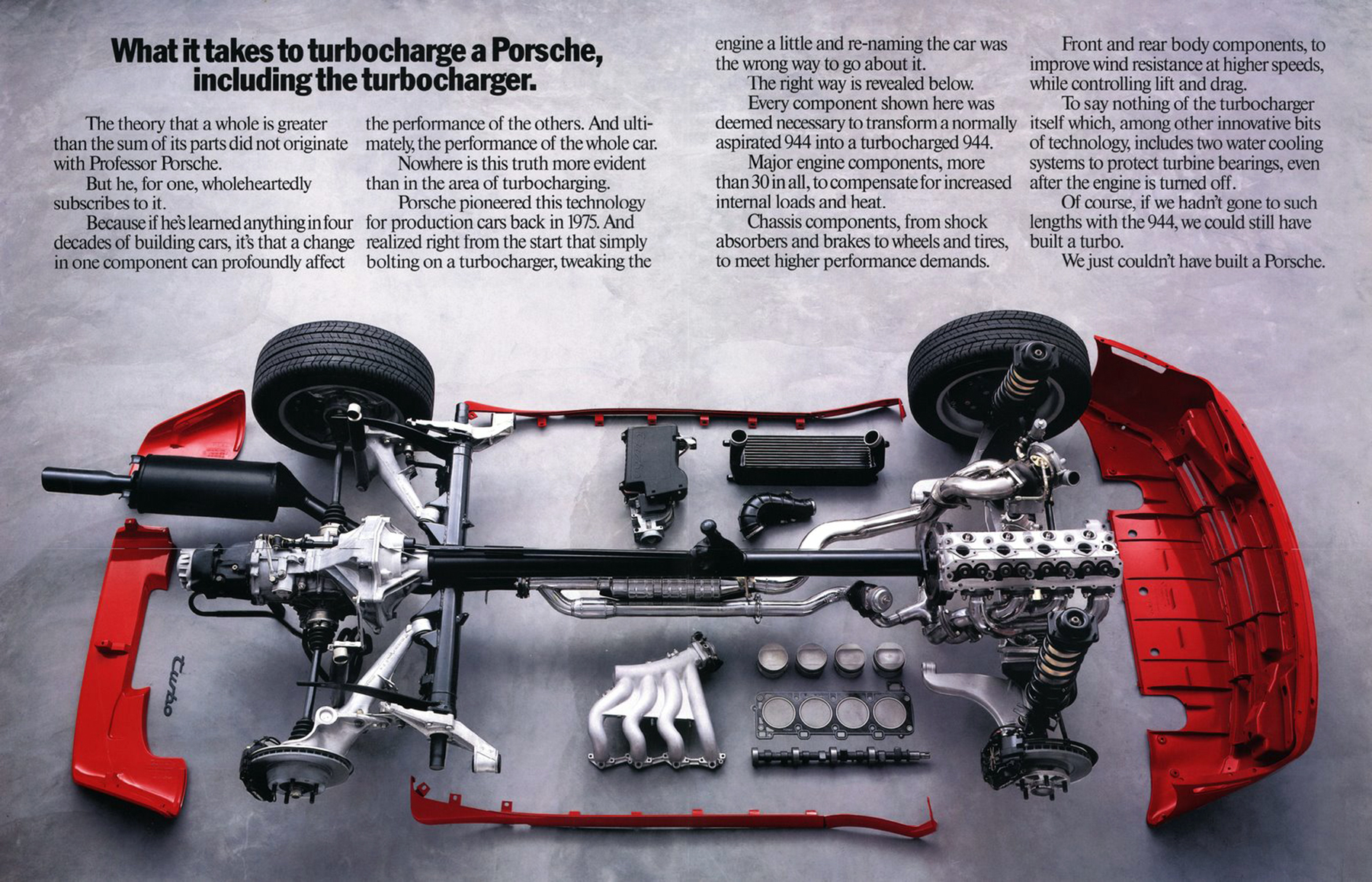 1986 Porsche 944 Turbo Ad, parts