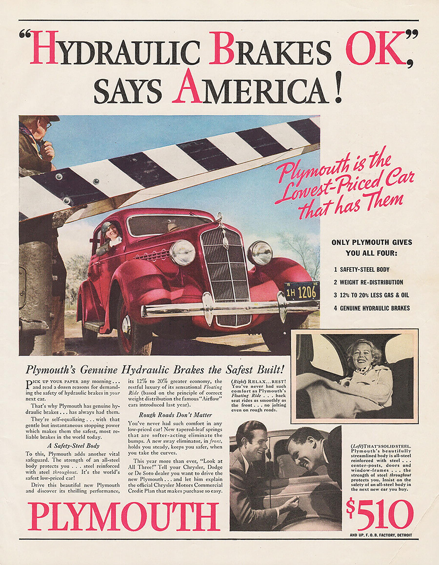 1935 Plymouth ad