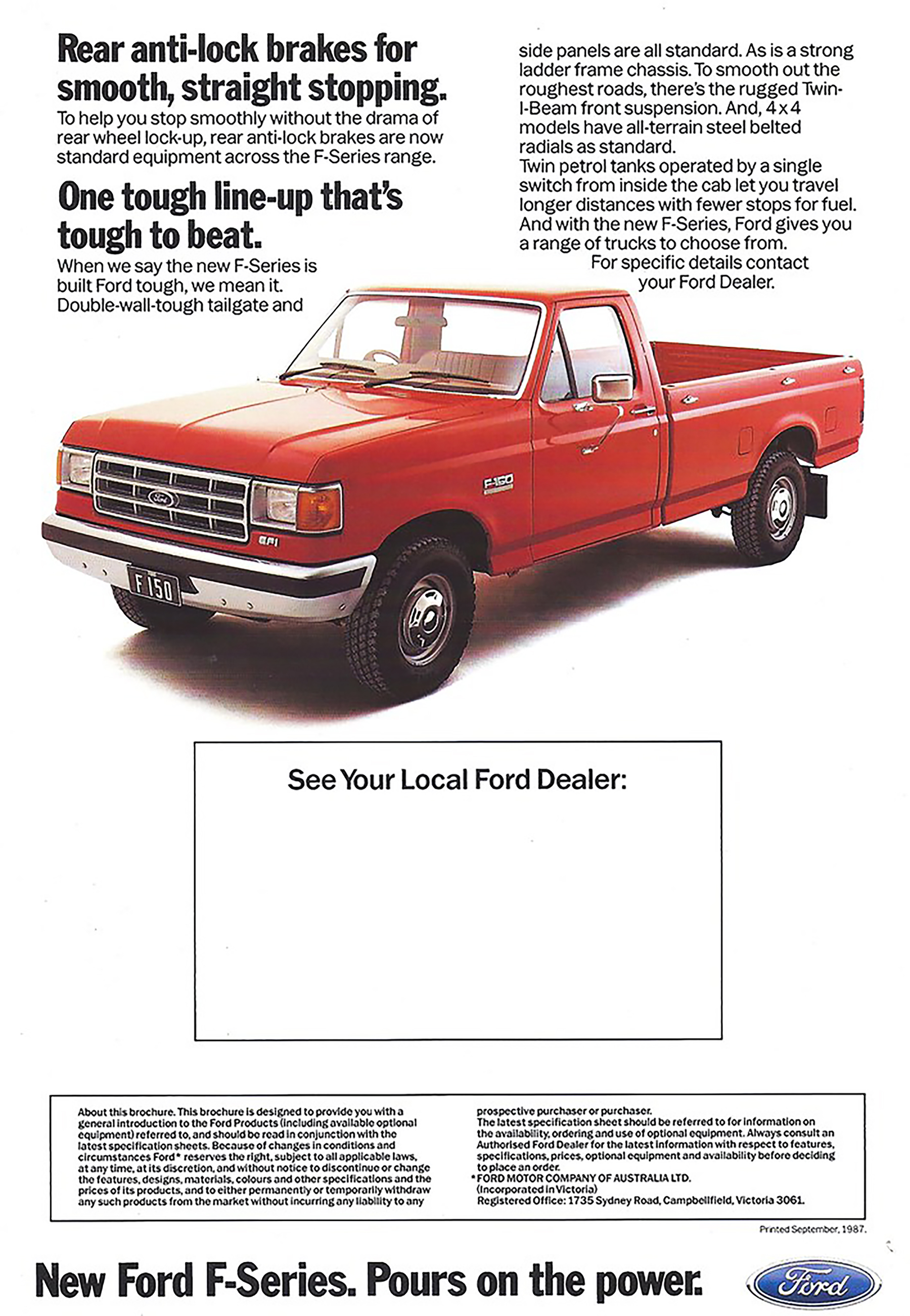 1987 Ford F-150 Ad