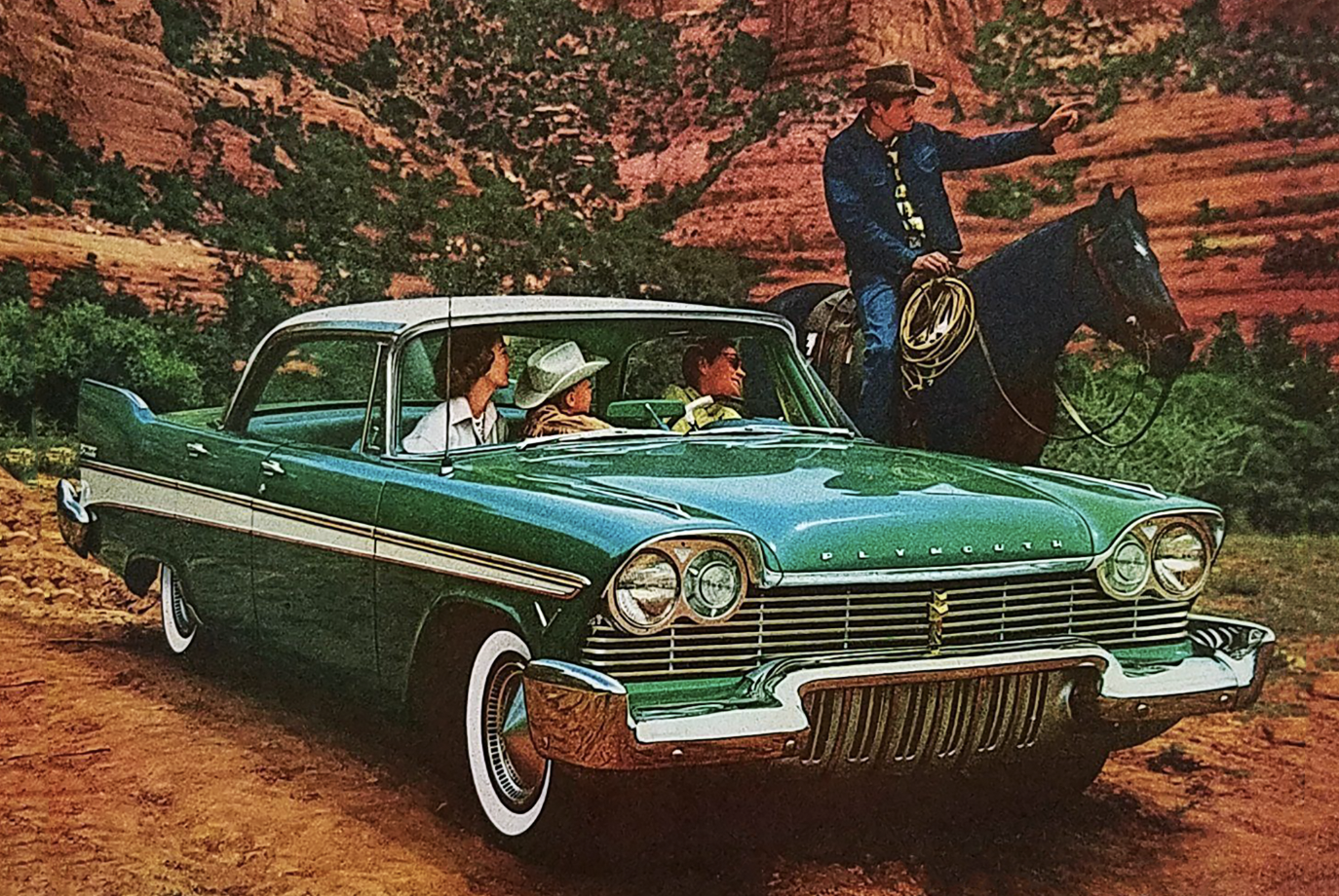 Cowboys in Classic Car Ads