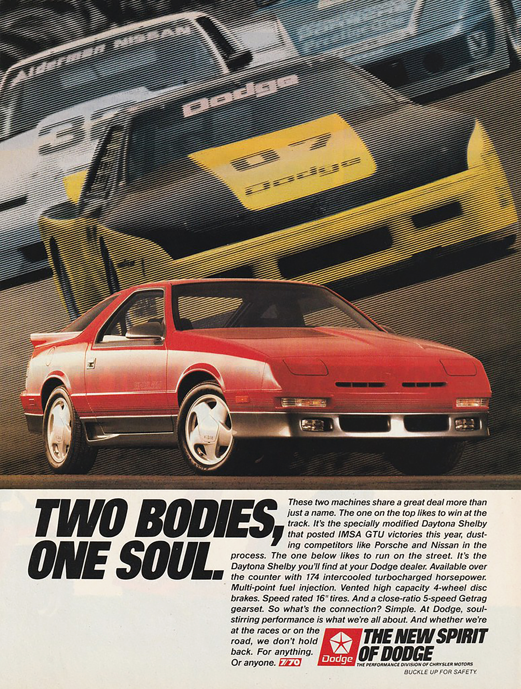 1989 Dodge Daytona Shelby Ad