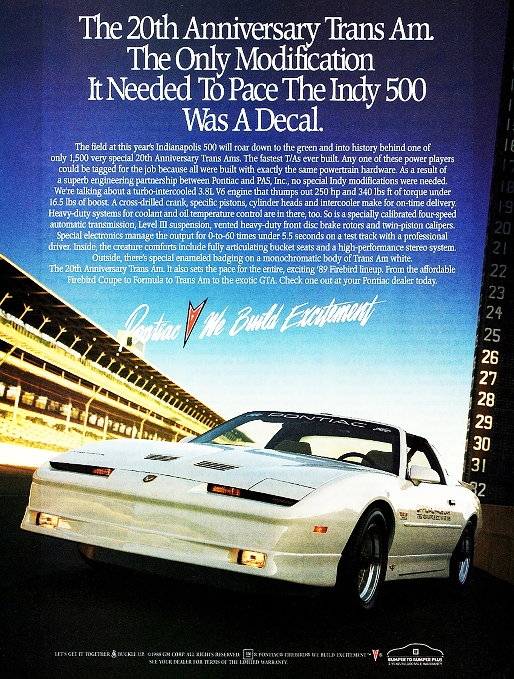 1989 Pontiac Firebird 20th Anniversary Trans Am Ad