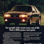 1989 Ford Mustang GT Ad
