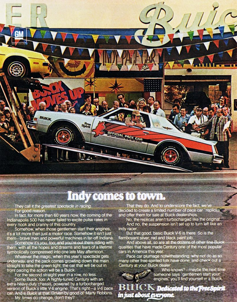 1976 Buick Ad, Pace Car. Coupes of 1976