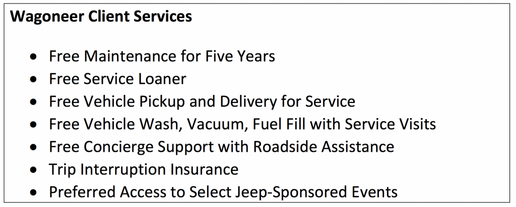 Wagoneer Client Services, 2022