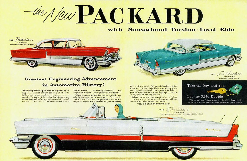 1955 Packard Ad, Premium Car Ads from 1955