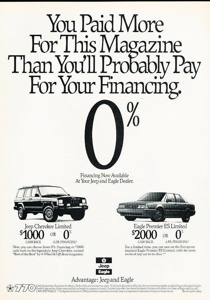 1990 Eagle Dealer Ad
