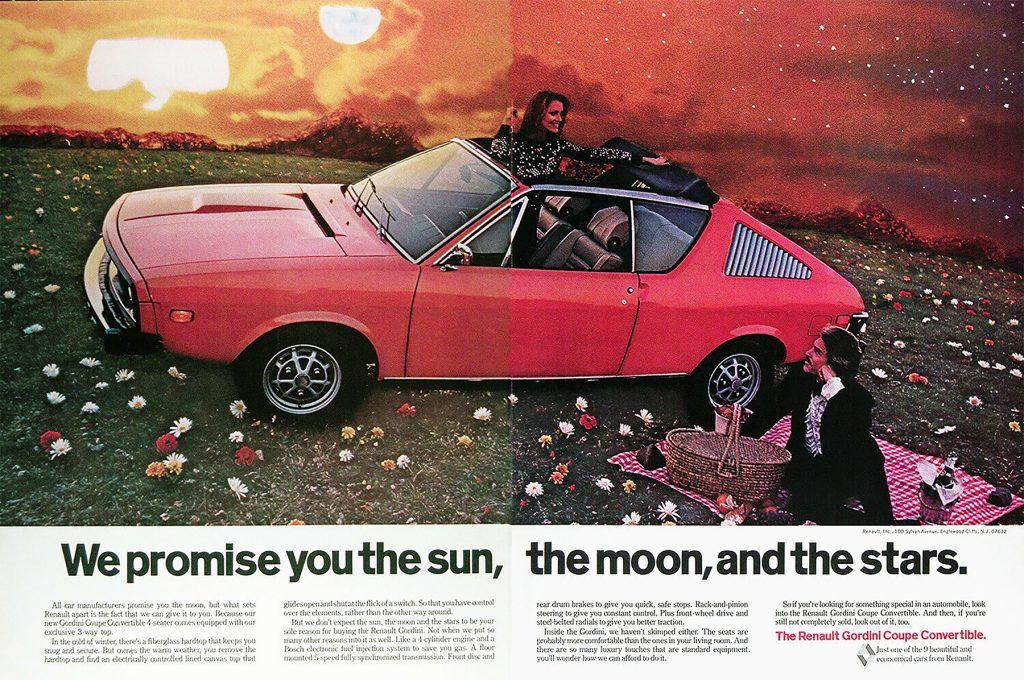 1974 Renault Gordini Ad