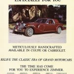 1987 Zimmer Classic Coupe Ad
