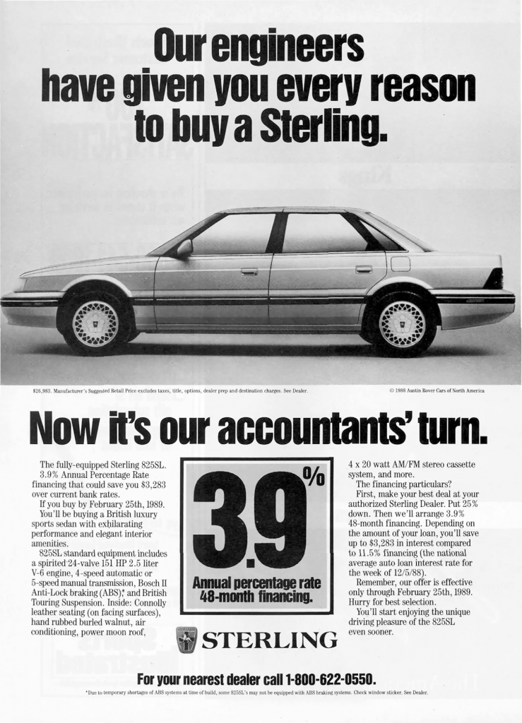 1989 Sterling Ad