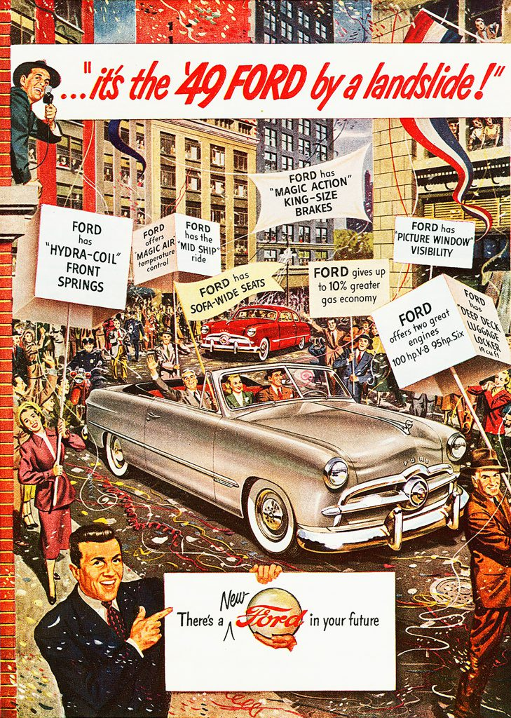 Ford-1949-convertible-ad, It's the '49 Ford by a Landslide