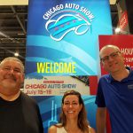 Tom, Jill, and Damon at the 2021 Chicago Auto Show