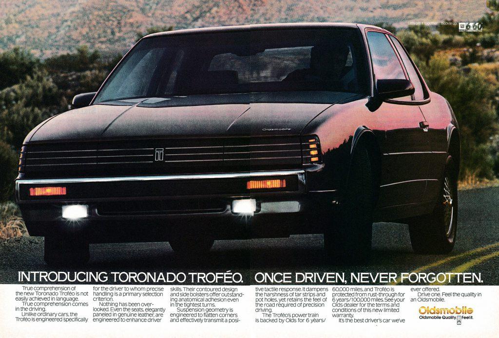 1988 Oldsmobile Toronado Troféo Ad