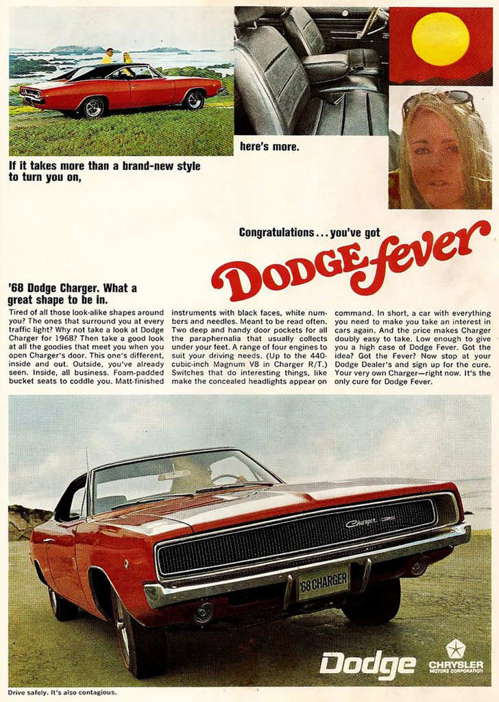 1968 Dodge charger Ad